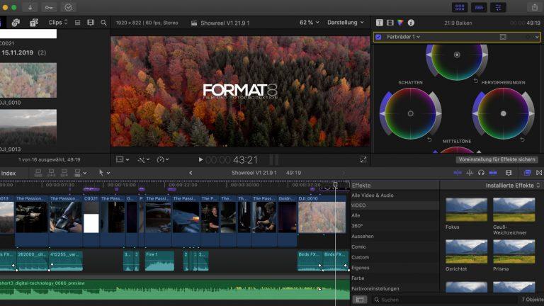 Videobearbeitung Final Cut Pro X FORMAT8
